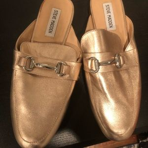 Metallic pink Steve Madden loafers